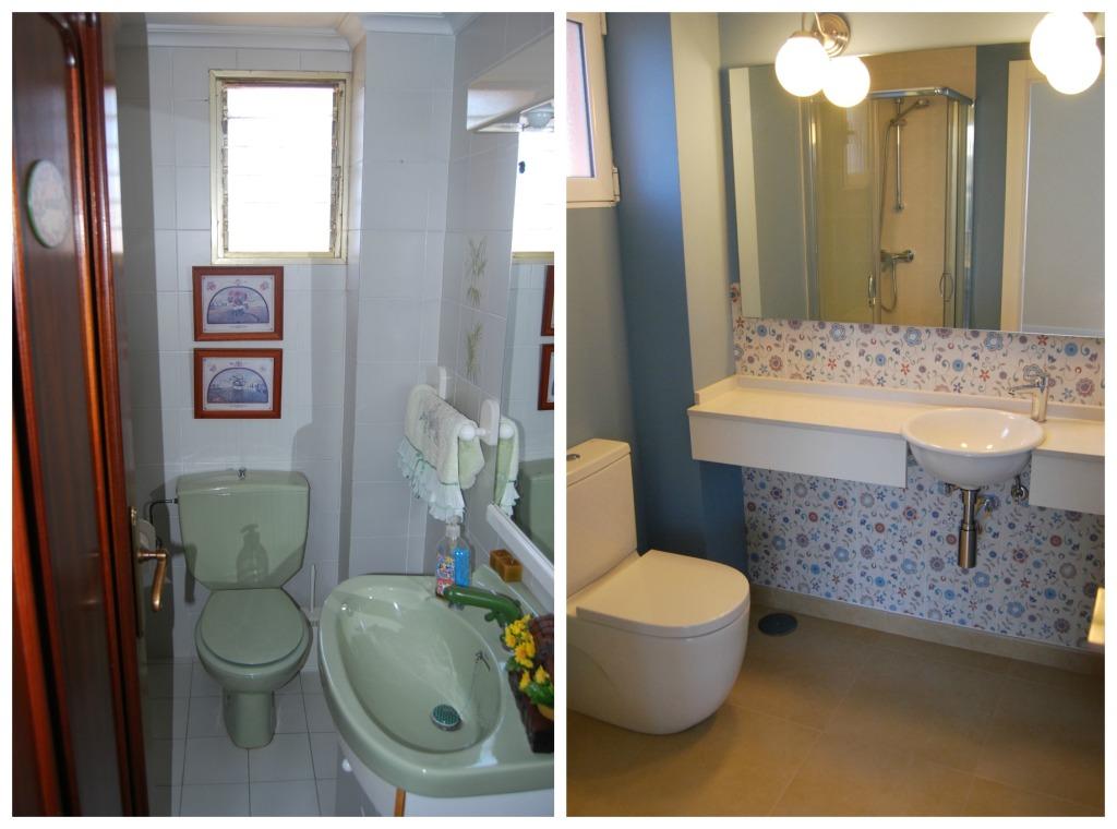 comparativa baño dormitorio principal