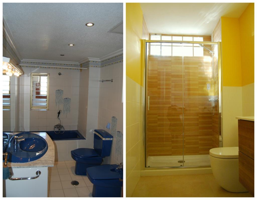comparativa baño pasillo